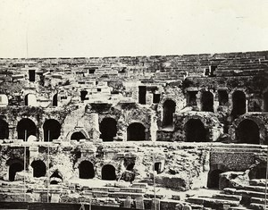 France Nimes Nismes Arena without Public Old Photo Bisson 1857