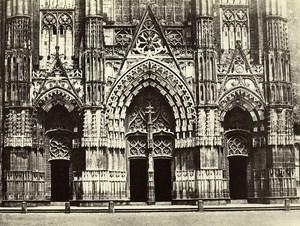 France Tours Saint Gatien Cathedral Portail Old Photo Bisson 1857