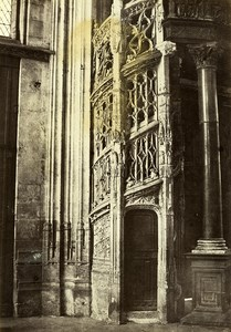 France Rouen Saint Maclou Church Staircase Organ Old Photo Bisson 1857