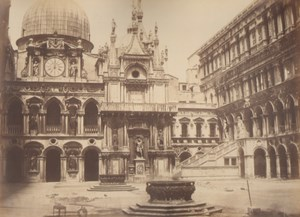 Italy Venice Doge's Palace Old Large Photo Carlo Naya 1865