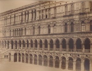 Italy Venice Ducal Palace Interior Facade Old Large Photo Carlo Naya 1865