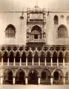 Italy Venice Ducal Place West Facade Old Large Photo Carlo Naya 1865