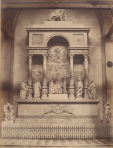 Italy Venice Monument of Titian Dei Frari Church Old Photo Carlo Naya 1865