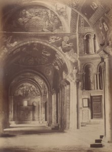 Italy Venice Vestibule of St Mark Church Old Large Photo Carlo Naya 1865