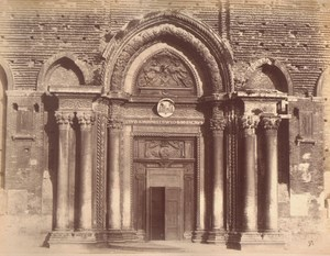 Italy Venice Door of Church of St John & Paul Old Large Photo Carlo Naya 1865