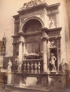 Italy Venice Mausoleum of Vendramin Old Large Photo Carlo Naya 1865