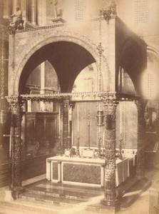Italy Venice High Altar of St Mark Church Old Large Photo Carlo Naya 1865