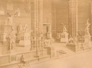 Italy Firenze Loggia Street Retailer Old Photo 1865