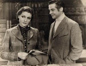 Cinema Movie France Actors Vera Korene & Fernand Gravey Old Photo 1936