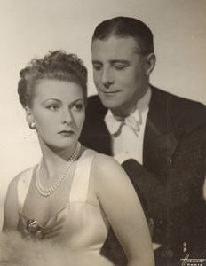 Cinema Movie France Actor Henri Garat & Actress Old Photo Harcourt 1940