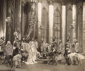 London Coliseum Theatre Casanova Oriel Ross Borzoi dogs Old Stage Photo 1932