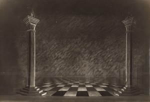 London Coliseum Theatre Casanova Stage design? Old Stage Photo 1932 #5