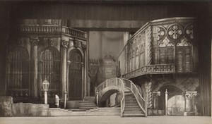Londres Coliseum Theatre Casanova Décor de scene Ancienne Stage Photo 1932 #3