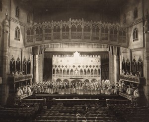 Londres Coliseum Theatre Casanova Venise Acteurs en Scene Ancienne Stage Photo 1932