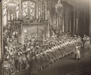 Londres Coliseum Theatre Casanova Acteurs en Scene Ancienne Stage Photo 1932 #7