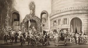 Londres Coliseum Theatre Casanova Gate of Tarragona Scene Ancienne Stage Photo 1932