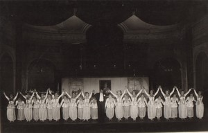 Londres Coliseum? Theatre Comedie Musicale Ancienne Stage Photo 1932 #2