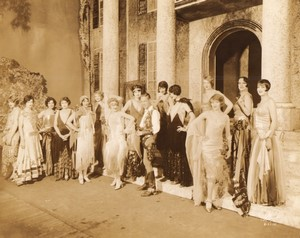 USA New York Broadway Theatre Scene Cowboy Flappers Ancienne Photo White 1924