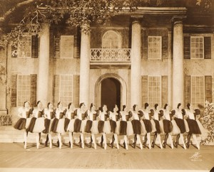 USA New York Broadway Theatre Scene Elegantes Danseuses Ancienne Photo White 1924 #1