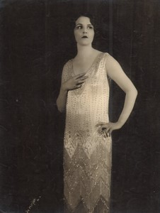 USA New York Broadway Theatre Actrice Danseuse Flapper Ancienne Photo De Mirjian 1924