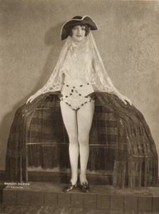 USA Chicago Woods Theatre Ballet Costume Mae Bernie Ancienne Photo Rayhuff Richter 1920's