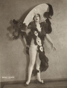 USA Chicago Woods Theatre Ballet Costume Ancienne Photo Rayhuff Richter 1920's #3