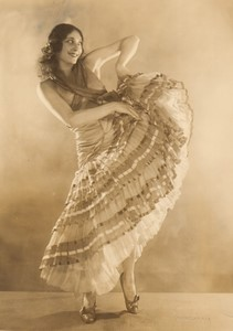 USA New York Theatre Danse Costume Ancienne Photo Nicolas Haz 1920's