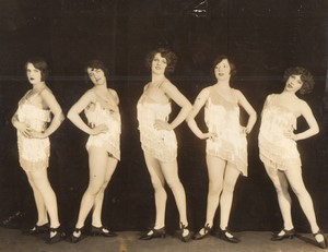 USA New York Winter Garden Theatre? Gay Paree Danseuses ancienne Photo De Mirjian 1926