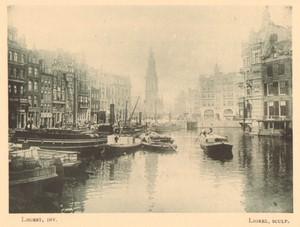 Belgium l'Art en Photographie Amsterdam Canal old Halftone Lhoest 1901