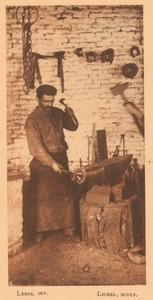 Belgium l'Art en Photographie Blacksmith old Halftone Leroi 1901 #2