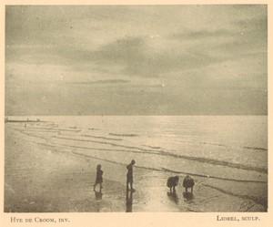 Belgium l'Art en Photographie Beach Scene old Halftone Hye de Croom 1901