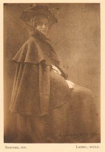 Belgium l'Art en Photographie Portrait old Halftone Sneyers 1901