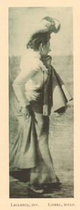 Belgium l'Art en Photographie Elegant Lady old Halftone Leclercq 1901