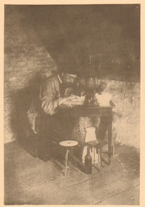 Belgium Sentiment d'Art en Photographie Man Reading Halftone Louis Mathy 1901