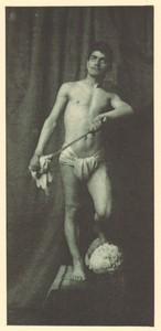 Belgium Sentiment d'Art en Photographie Male Portrait old Halftone Lecyloë 1901