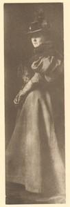 Belgium Sentiment d'Art en Photographie Lady old Halftone Ferdinand Leys 1901