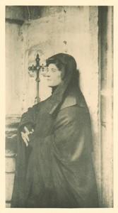 Belgium Sentiment d'Art en Photographie Lady & Cross old Halftone J. Liorel 1901