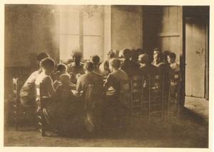 Belgium Sentiment d'Art en Photographie Meal Time old Halftone Declercq 1901