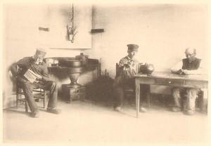 Belgium Sentiment d'Art en Photographie Men in Clogs old Halftone Bayart 1901