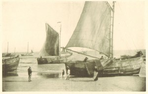 Belgium Sentiment d'Art en Photographie Fishing Boat old Halftone Lecyloë 1901