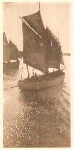 Belgium Sentiment d'Art en Photographie Fishing Boat old Halftone Dehaspe 1901
