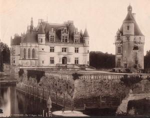 France Chateau de Chenonceaux Castle Old Photo Peigné 1900