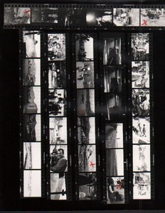Voyage a Travers l'Asie Etude Istanbul Istamboul ancienne Planche Contact Photo 1970