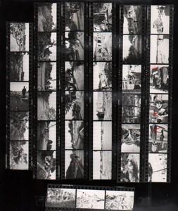 Voyage a Travers l'Asie Moyen Orient? Etude Artistique ancienne Planche Contact Photo 1970