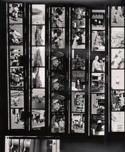 Voyage a Travers l'Asie Chine? Etude Artistique Commerces ancienne Planche Contact Photo 1970