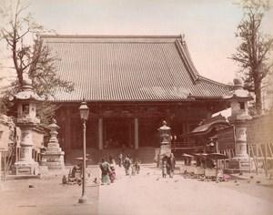 Japan Tokyo? Street Market & Lake Sumidagawa 2 Old albumen Photos 1890