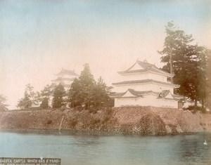 Japan Nagoya Castle & Hikone Rakuraku Park Bridge 2 Old albumen Photos 1890