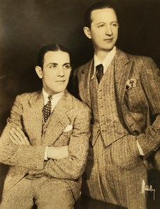 New York Vaudeville team Jans & Whalen Old Mitchell Photo 1930