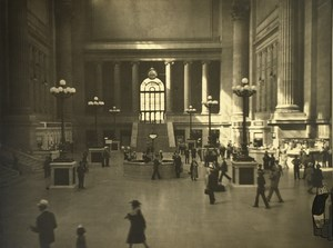 New York Grand Central Station Commuters Hall Old Photo 1940