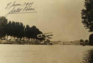 Aviation Float Glider Flying Jules Voisin 1938 Autograph & 1905 Photo